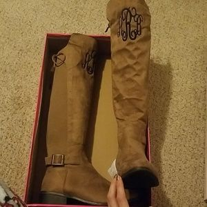 Shoes - ABR monogramed boots size 8...7.5